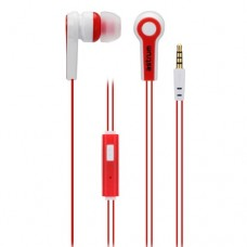 Earphone Buds / In-Ear Earphone + Mic - Astrum EB230 - Red and White