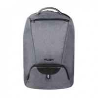 "Backpack Rusa 15.6"" Water Resistant Nylon, Grey Colour"