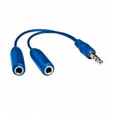 Cable Aux Split 3.5mm Male to 2x3.5mm Female stereo jack 0.2m - Astrum AS003