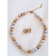 Jewellery – Multicoloured Necklace and Earring Set