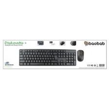 Keyboard and mouse combo black Baobab KM325UK