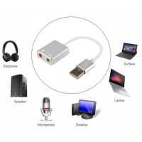 Sound Card USB Cable Stereo 7.1 channel