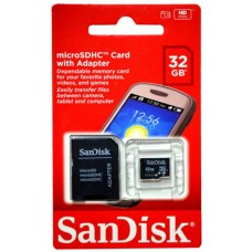 MicroSDHC 32GB Card with Adapter