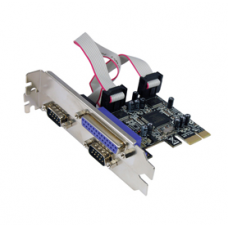 PCI-e to 2x Serial & 1x Parrallel Converter Card STLab